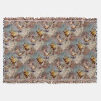 Cobertor Luta masculina de dois faisão do anel-pescoço