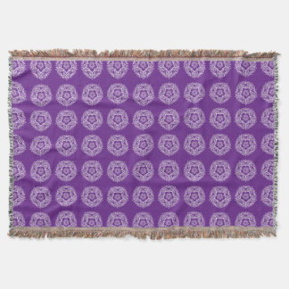 Cobertor Mandala da beringela