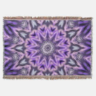 Cobertor Mandala do roxo do Lilac