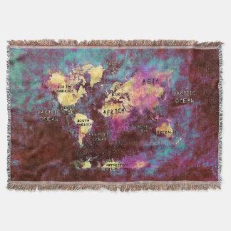 Cobertor mapa do mundo