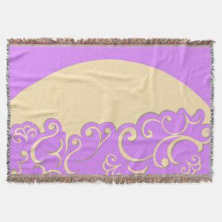 Cobertor Marfim e Lilac