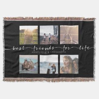Cobertor Melhores amigos para a tipografia da foto de