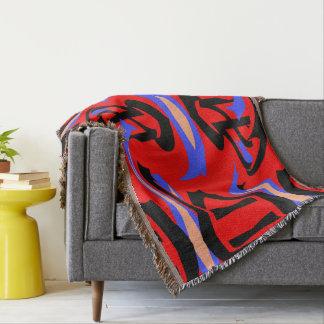 Cobertor Mistura nativa vermelha festiva da arte do indiano