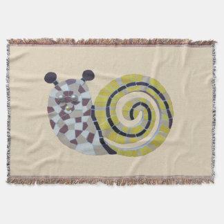 Cobertor Mosaico bonito Cust do caracol. Cobertura de Trow