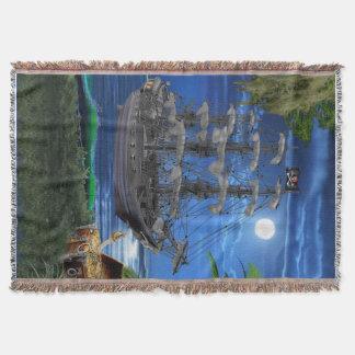 Cobertor Navio de pirata enluarada Mystical