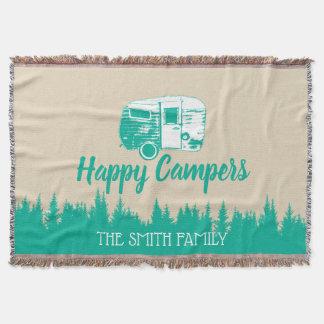 Cobertor Nome de família de acampamento rústico do reboque