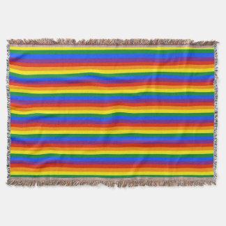 Cobertor O arco-íris colorido listra o afegão do orgulho
