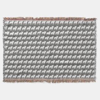 Cobertor O buldogue francês mostra em silhueta o teste