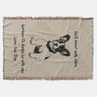 Cobertor O cão de estimação doce bonito personalizado cita