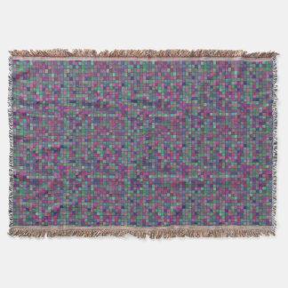 Cobertor O frio coloriu a cobertura do lance dos azulejos