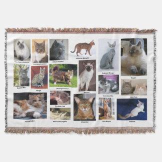 Cobertor O gato produz a cobertura completa do foto a cores