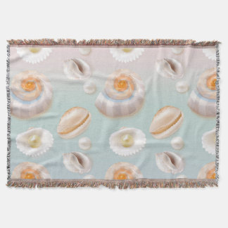 Cobertor O mar Shell do SeaShell da luz Aloha peroliza o