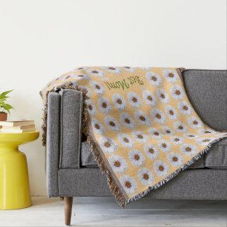 Cobertor O melhor teste padrão de flor do Zinnia branco da