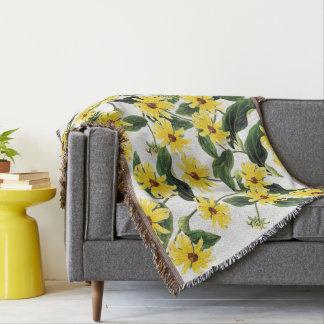 Cobertor O Rudbeckia de Coneflower floresce a cobertura