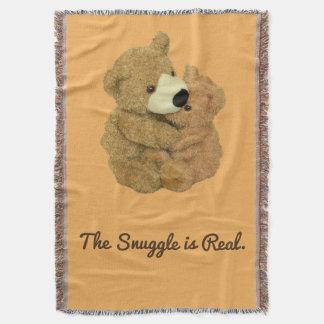 Cobertor O Snuggle é cobertura real do lance