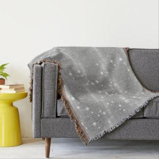 Cobertor Olhar metálico do metal de prata da faísca do
