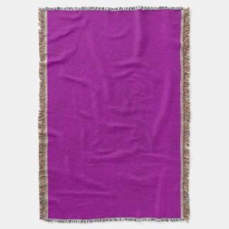 Cobertor Olhar roxo de veludo da orquídea brilhante