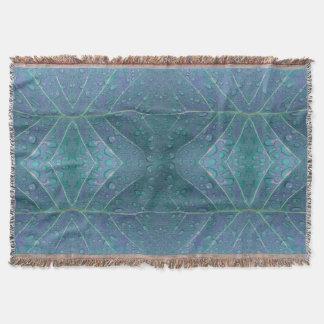 Cobertor Os pingos de chuva modelam no azul