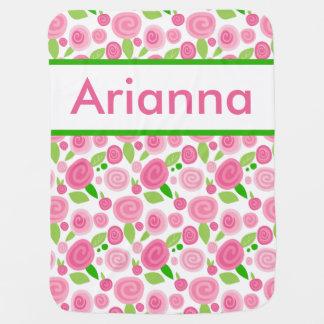 Cobertor Para Bebe A cobertura cor-de-rosa personalizada de Arianna