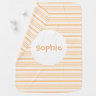 Cobertor Para Bebe A cobertura listrada abricó do bebê personaliza o