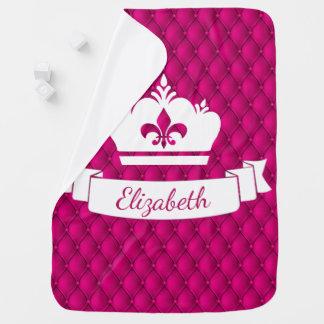 Cobertor Para Bebe A princesa real cor-de-rosa feminino Pin-dobrou a