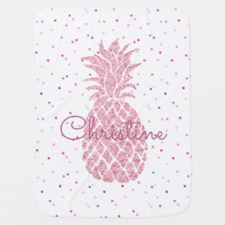 Cobertor Para Bebe abacaxi cor-de-rosa enorme feminino