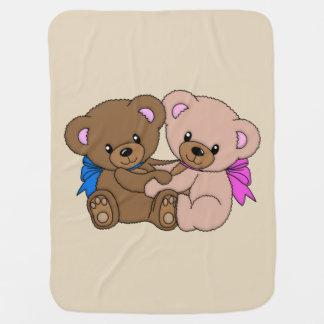 Cobertor Para Bebe Abraçando ursos de ursinho
