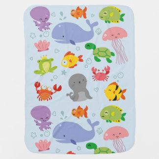 Cobertor Para Bebe Amigos aquáticos