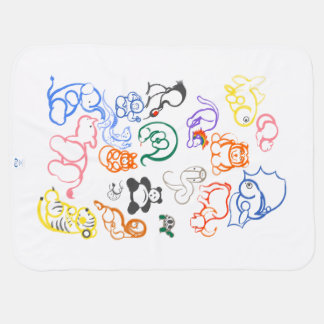 Cobertor Para Bebe Animais africanos e asiáticos