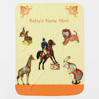 Cobertor Para Bebe Animais de circo