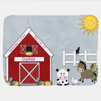 Cobertor Para Bebe Animais do Barnyard, fazenda, costume