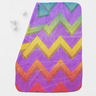 Cobertor Para Bebe Arco-íris Chevron por Shirley Taylor