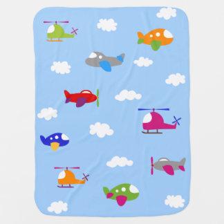 Cobertor Para Bebe Aviões coloridos na cobertura do bebê do céu