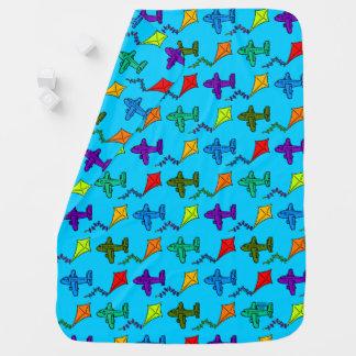 Cobertor Para Bebe Aviões & papagaios II
