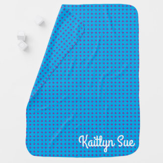 Cobertor Para Bebe Azul gráfico das borboletas |