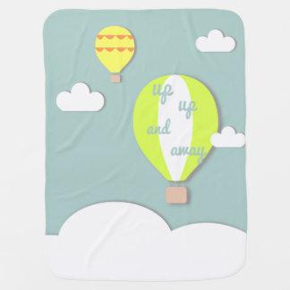 Cobertor Para Bebe Balão de ar quente, acima da cobertura ascendente