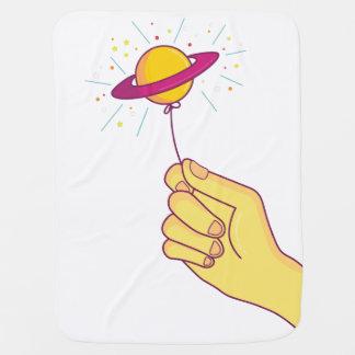 Cobertor Para Bebe Balão do pirulito de Saturn