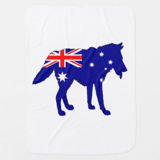 Cobertor Para Bebe Bandeira australiana - lobo