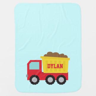 Cobertor Para Bebe Camião basculante, veículo da construção para o