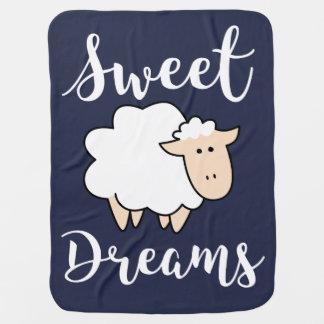 Cobertor Para Bebe Carneiros dos desenhos animados dos sonhos doces