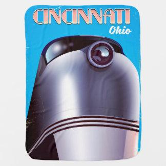 Cobertor Para Bebe Cartaz locomotivo do viagem de Cincinnati, Ohio
