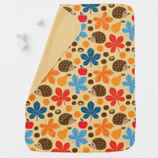 Cobertor Para Bebe Castanhas & teste padrão sem emenda do ouriço