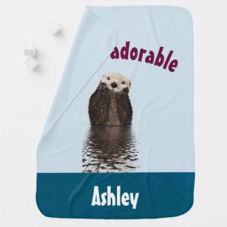 Cobertor Para Bebe Chalaça engraçada adorável de Otterly com lontra