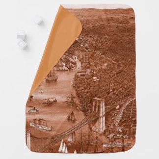 Cobertor Para Bebe Cobertura 1879 do bebê do mapa de Brooklyn do