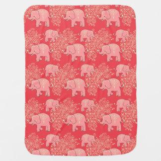 Cobertor Para Bebe Cobertura acolhedor do bebê dos elefantes doces do