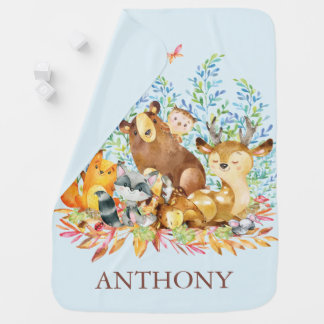 Cobertor Para Bebe Cobertura animal personalizada dos meninos da