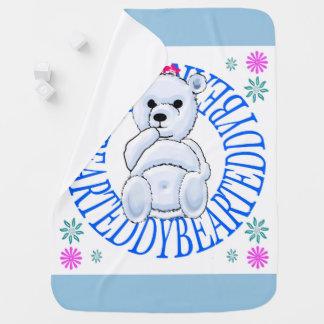 Cobertor Para Bebe Cobertura azul pálido do lance do urso de ursinho