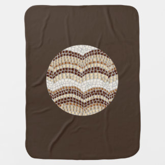 Cobertor Para Bebe Cobertura bege redonda do bebê do mosaico