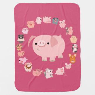 Cobertor Para Bebe Cobertura bonito do bebê da mandala do porco dos
