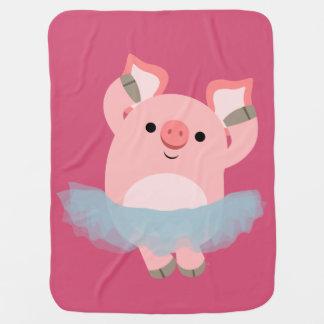 Cobertor Para Bebe Cobertura bonito do bebê do porco da bailarina dos